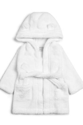 روب استحمام فرو صناعي - أبيض