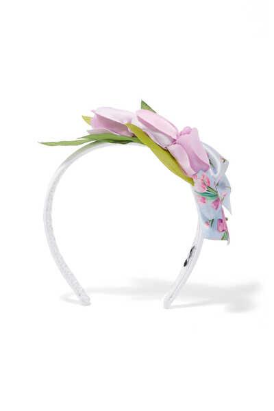 طوق رأس برقعة على شكل عقدة وزهور