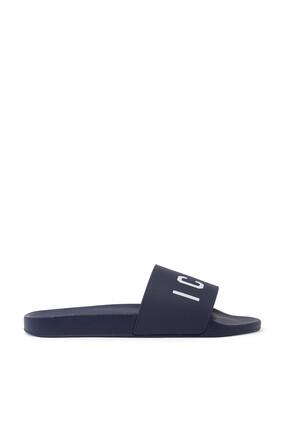 حذاء مفتوح بطبعة شعار Icon