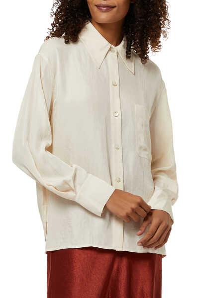 قميص بتصميم مربع بصف أزرار
