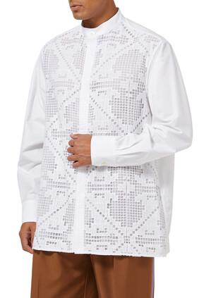 قميص دانتيل مطرز