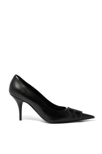 حذاء كلاسيك جلد لامع بشعار BB