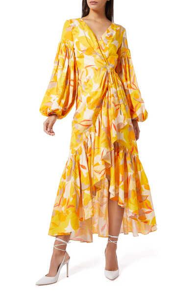 فستان جاليون بنقشة الزهور