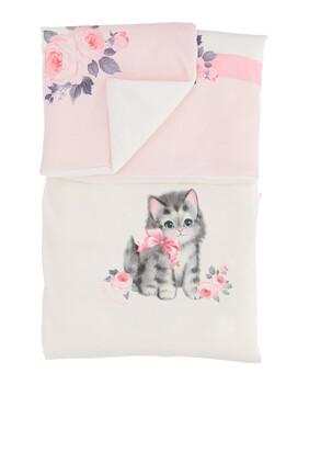 بطانية قطن بطبعة قطة