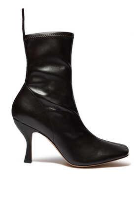 حذاء بوت سورايا جلد