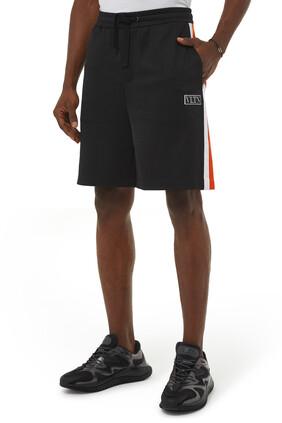 شورت برقعة VLTN بتصميم مقسم بألوان