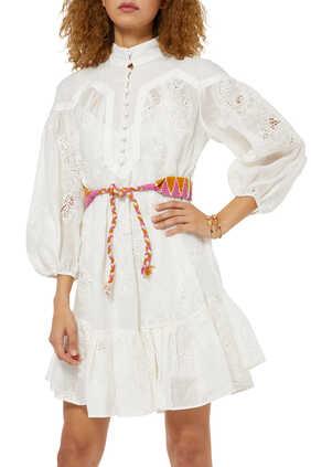 فستان رايدرز قصير بتصميم مقسم