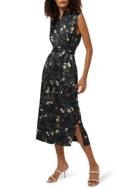 فستان بوب أوفر بنقشة زهور