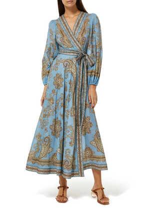 فستان فيستا طويل بتصميم ملفوف