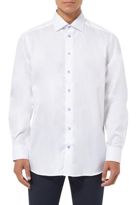 قميص تويل بشريط بنقشة بيزلي