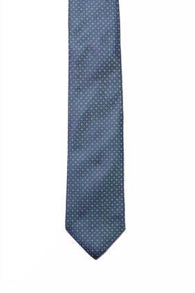 ربطة عنق حرير بنقشة دوائر