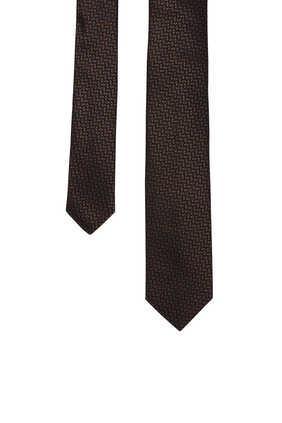 ربطة عنق حرير جاكار بنقشة هندسية