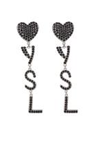 أقراط أوبيوم بتصميم قلب وشعار YSL