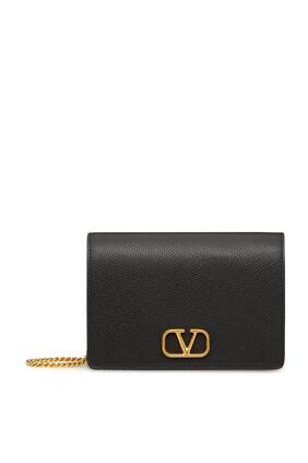 حقيبة صغيرة فالنتينو غارافاني بشعار الماركة جلد