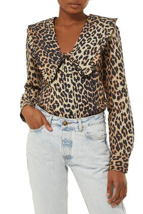 قميص قطن بفتحة رقبة V
