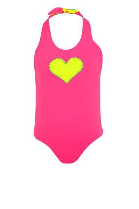 لباس سباحة بوجهين بنقشة قلب