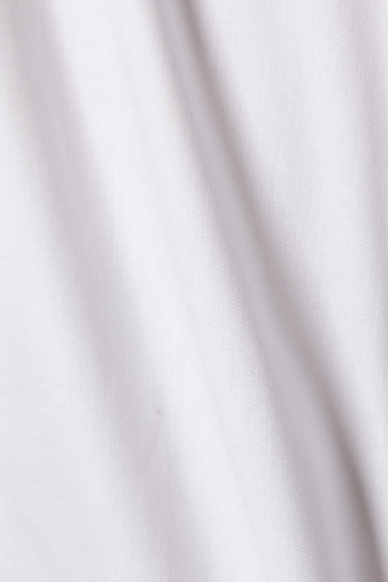 قميص تويل مميز للماركة بقصة ضيقة image number 4