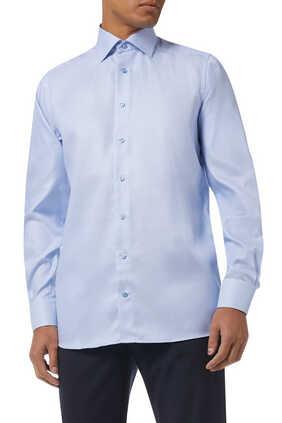 قميص منسوج بارز الملمس