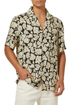 قميص بنقشة زهور