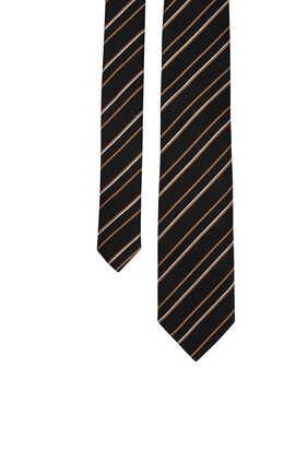ربطة عنق حرير مخططة
