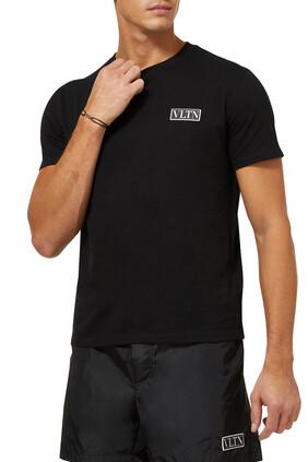 تي شيرت برقعة شعار VLTN