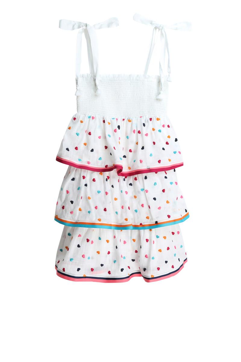 فستان بوبي بطبقات وكشكش مطاطي image number 1