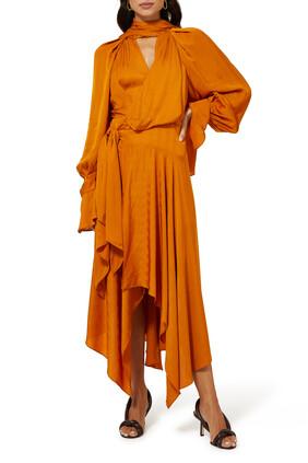 فستان تيلدن غير متماثل