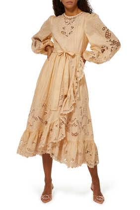 فستان برايتون بحافة صدفية