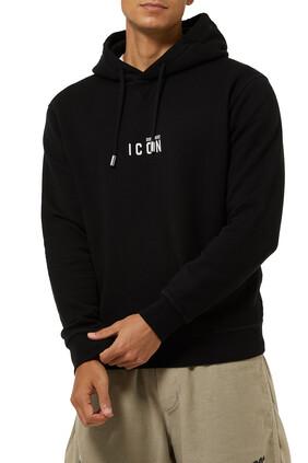 كنزة بغطاء رأس بشعار Icon بتصميم صغير