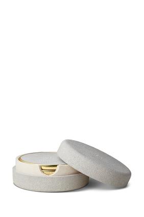 AE S/4 Shagreen Coasters Dove:Multi Colour:One Size