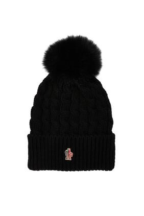 قبعة صوف بكرة البوم بوم