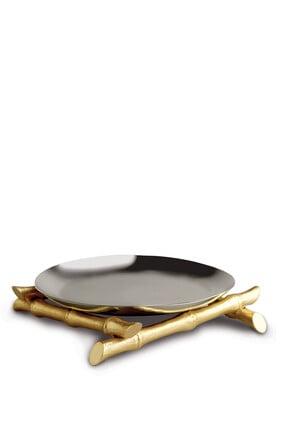 طبق مستدير بتصميم بامبو