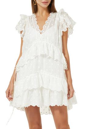 فستان ماي قصير منقط