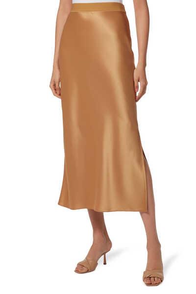 تنورة حرير بتصميم طويل سهل الارتداء