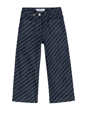 بنطال جينز دينم بخطوط