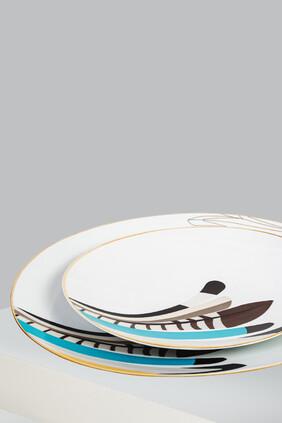 طبق تقديم سرب بتصميم بيضاوي