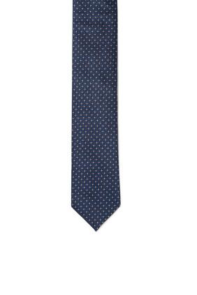 ربطة عنق حرير بنقشة هندسية