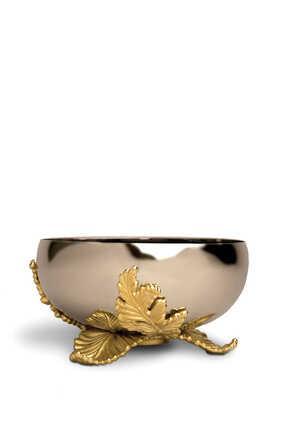 وعاء لامينا كبير بطلاء الذهب