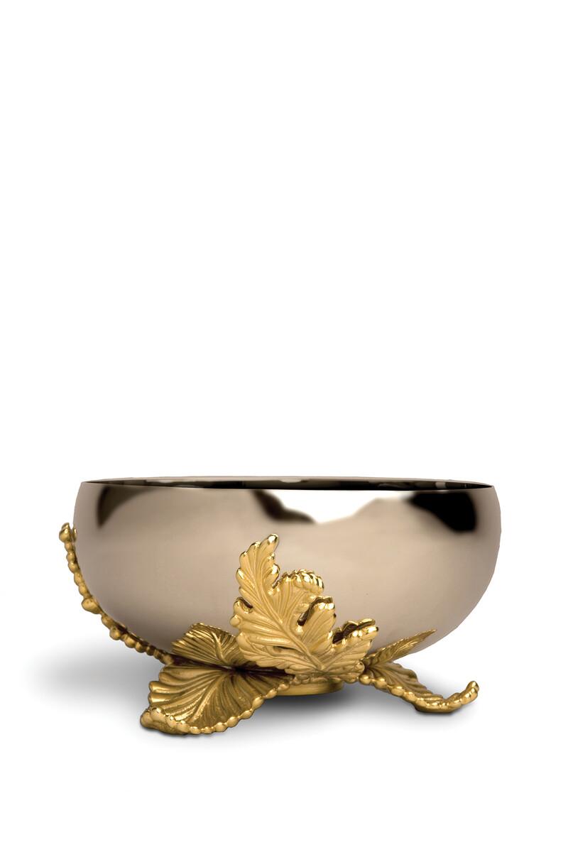 وعاء لامينا كبير بطلاء الذهب image number 1