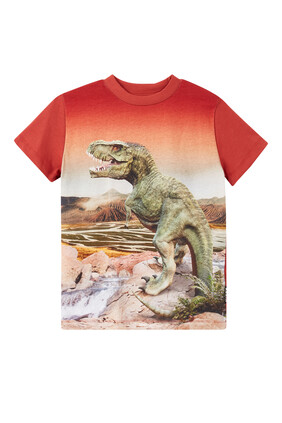 تي شيرت بطبعة ديناصور