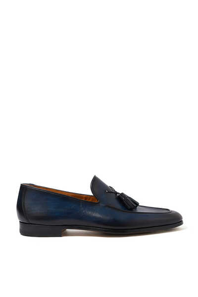 حذاء سهل الارتداء جلد لين بشرّابات
