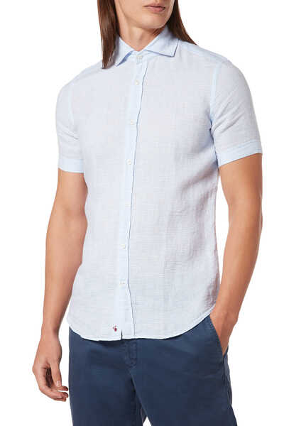 قميص كتان مخطط