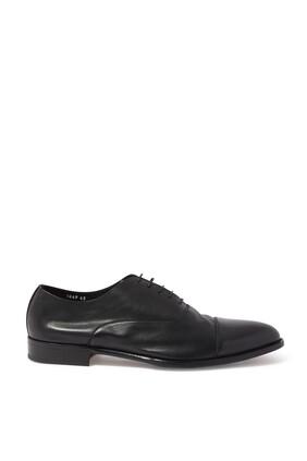 حذاء أكسفورد كافي جلد