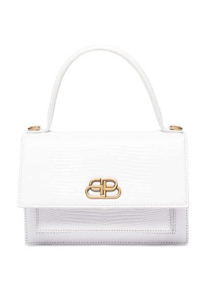 حقيبة شارب جلد بنقشة جلد الحرباء بمقاس XS