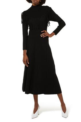 فستان طويل بشرّابات