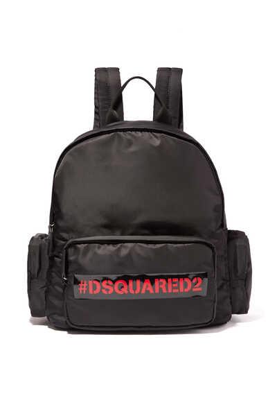 حقيبة ظهر بشعار الماركة بتصميم هاشتاج