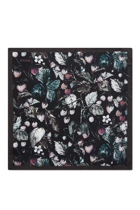 منديل جيب بنقشة زهور وفراشات