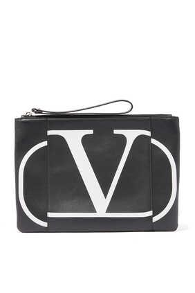 حقيبة فالنتينو غارافاني صغيرة بشعار حرف V