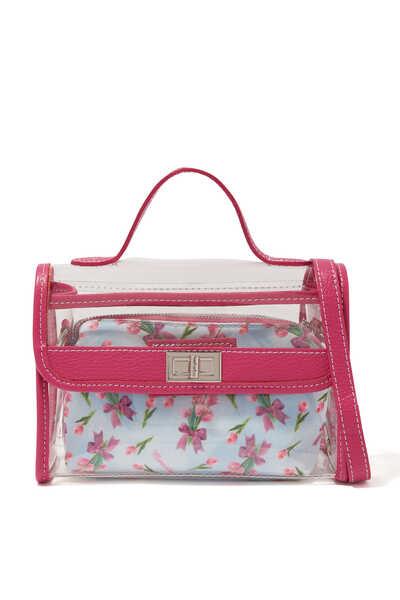 حقيبة يد فانسي كلوريد متعدد الفينيل بنقشة