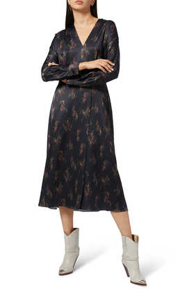 فستان ويستريا بتصميم ملفوف